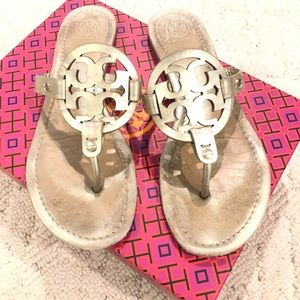 Tory Burch Miller Sandals Size 9 Gold